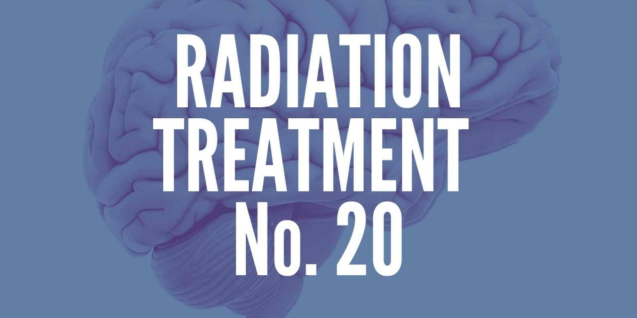 Another Day, Another Radiation Treatment