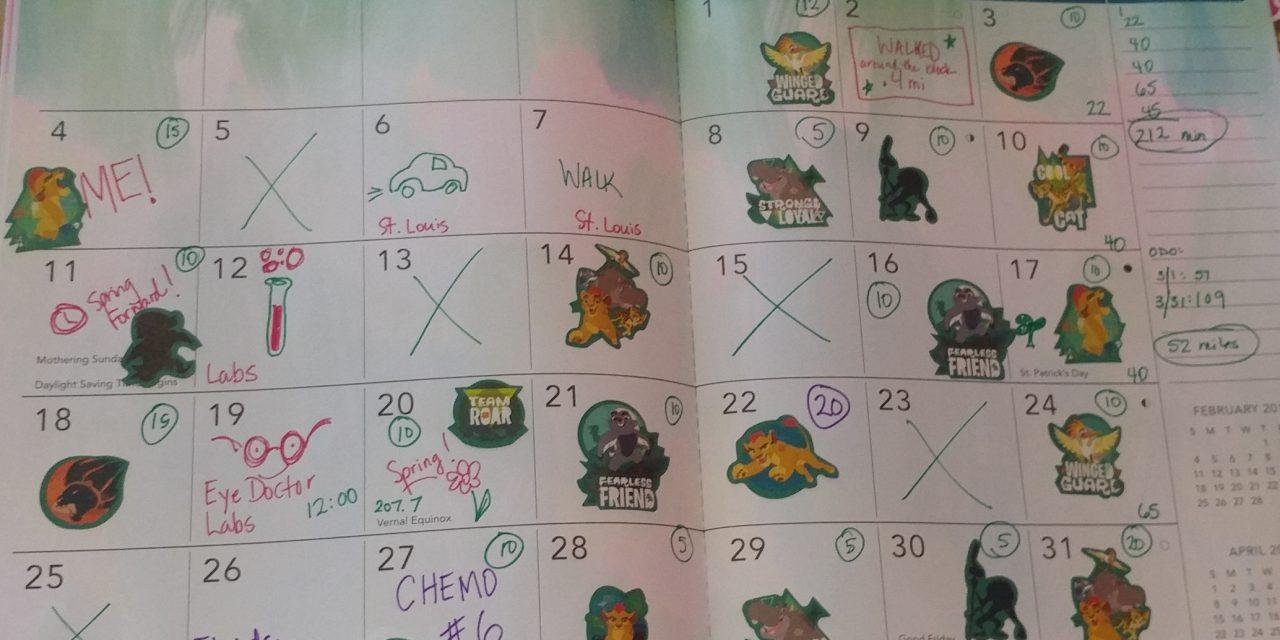 Emily's Cancer Calendar