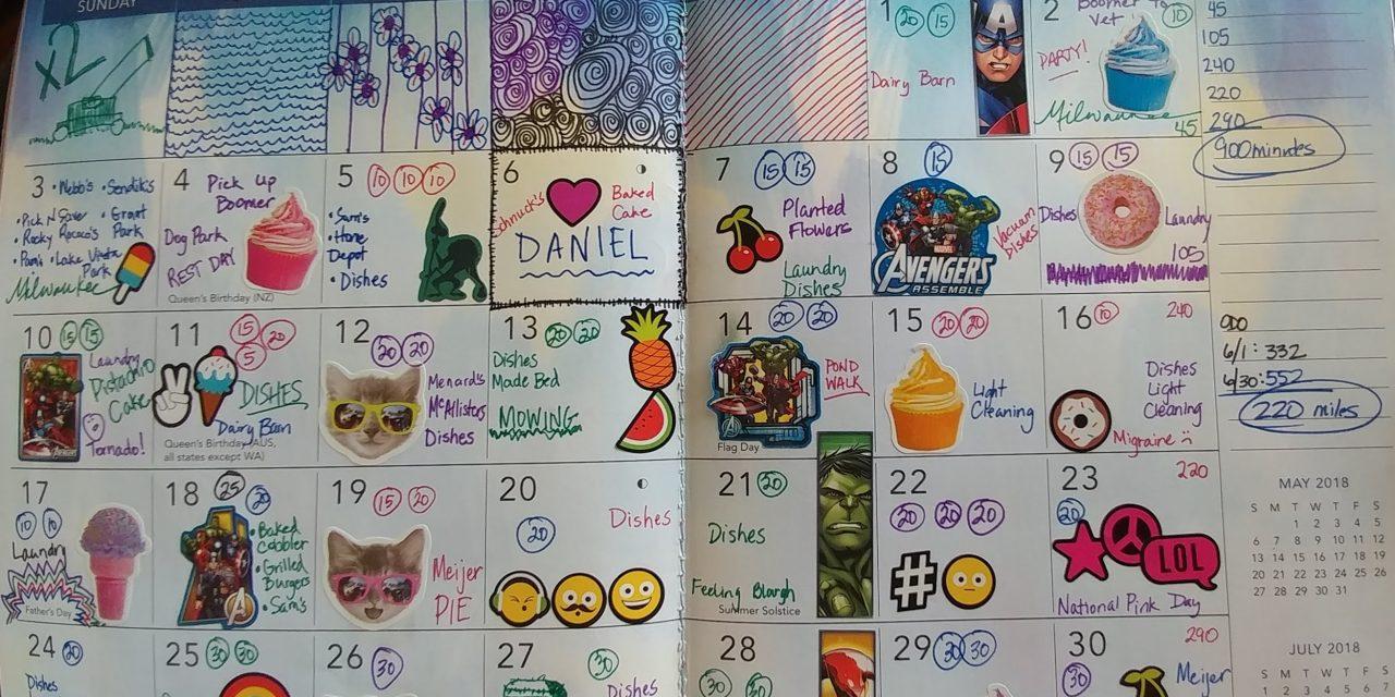 Emily's Cancer Calendar: June