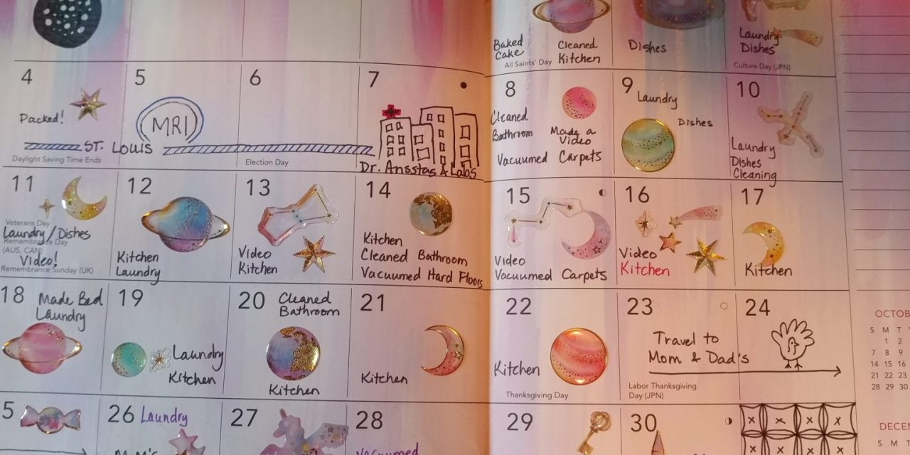 Emily's Cancer Calendar: November