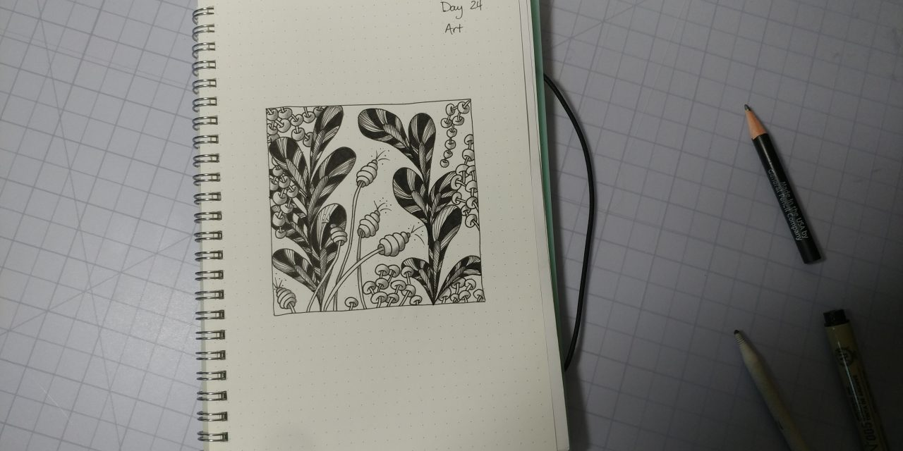 VIDEO: One Zentangle a Day – Day 24