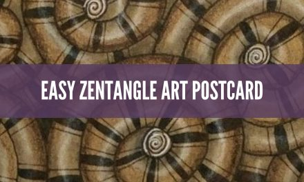 Easy Zentangle Art Postcard