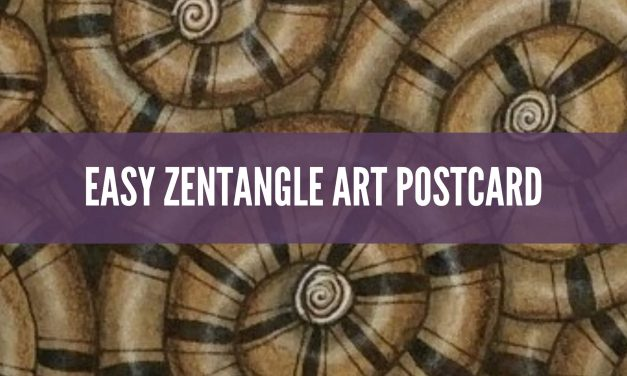 Easy Zentangle Art Postcard