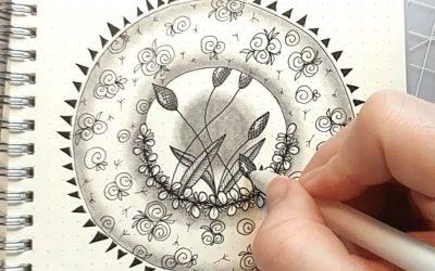 One Zentangle a Day – Day 41 – Zentangle Folk ART