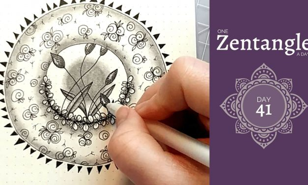 One Zentangle a Day – Day 41