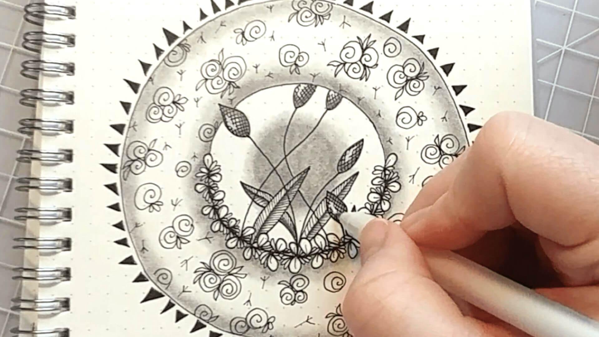 One Zentangle a Day - Day 41 - Zentangle Folk Art